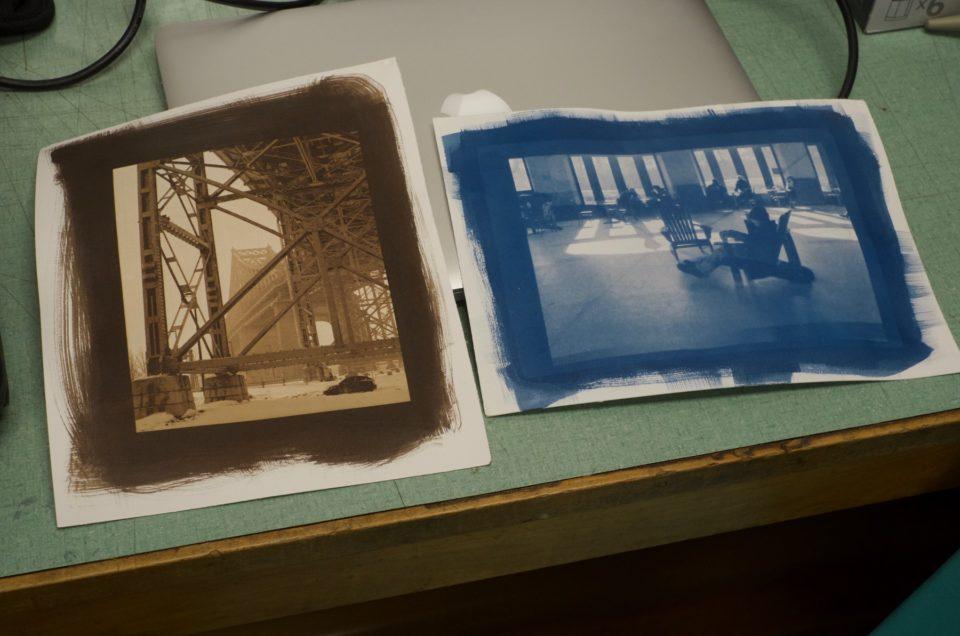 Retour sur l'atelier Van Dyke et Cyanotype